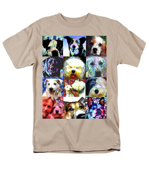 Pet Portraits Men's T-Shirt  (Regular Fit) by Alene Sirott-Cope
