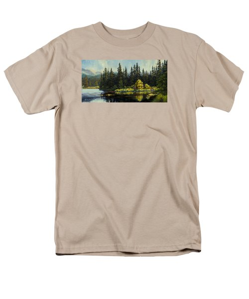 Men's T-Shirt  (Regular Fit) featuring the painting Peterson Lake by Kurt Jacobson
