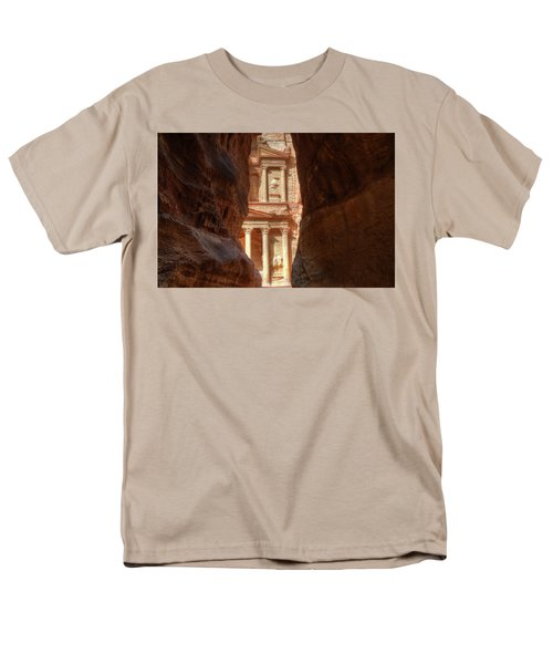 Petra Treasury Revealed Men's T-Shirt  (Regular Fit) by Nigel Fletcher-Jones