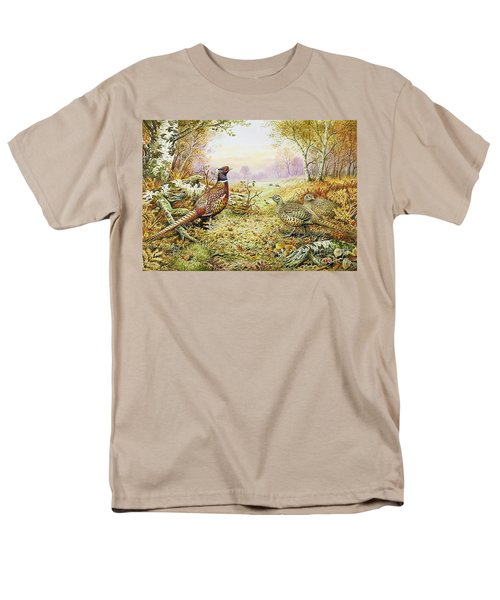 Pheasants In Woodland Men's T-Shirt  (Regular Fit) by Carl Donner