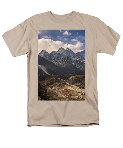 Men's T-Shirt  (Regular Fit) featuring the photograph Pheriche In The Valley by Mike Reid