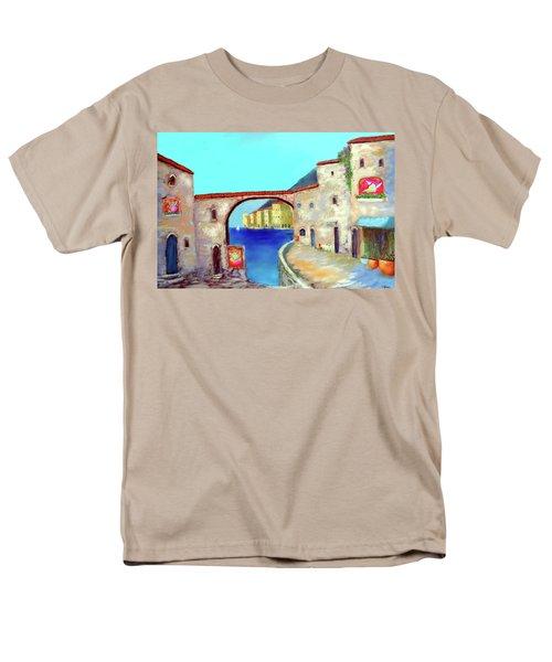 Piazza Del La Artista Men's T-Shirt  (Regular Fit) by Larry Cirigliano