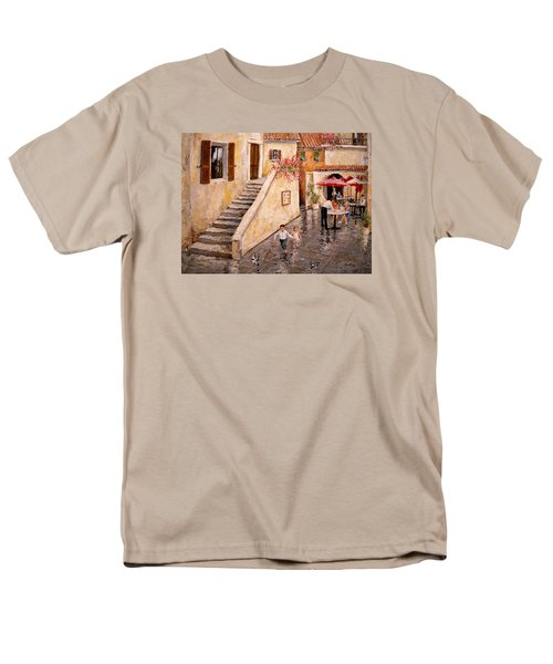Pigeon Pigeon Pigeon Pie Men's T-Shirt  (Regular Fit) by Alan Lakin