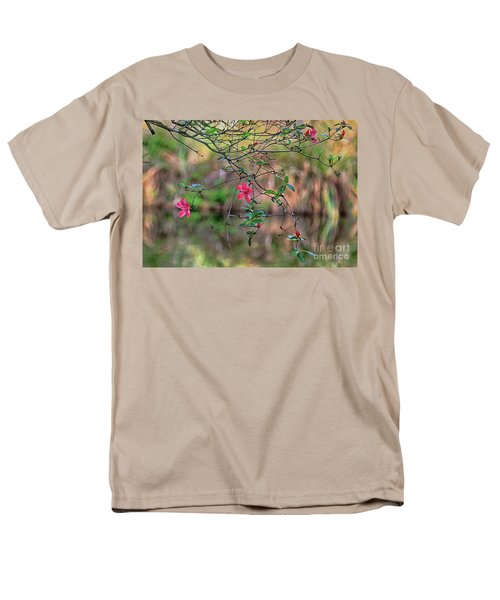 Men's T-Shirt  (Regular Fit) featuring the photograph Pink Azalea Dream by Deborah Benoit
