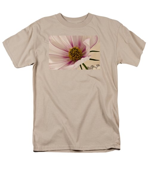 Pink Bi Color Cosmo Macro Men's T-Shirt  (Regular Fit) by Sandra Foster