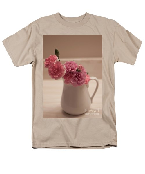 Pink Carnations Men's T-Shirt  (Regular Fit) by Sherry Hallemeier