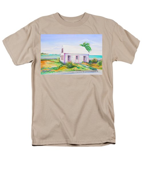 Pink Cottage Men's T-Shirt  (Regular Fit) by Patricia Piffath