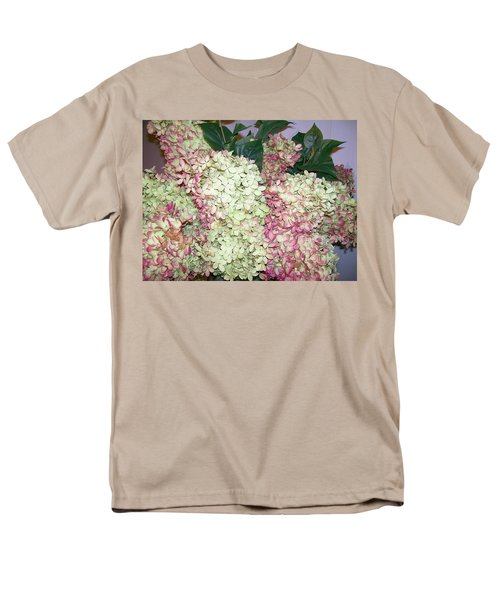 Men's T-Shirt  (Regular Fit) featuring the digital art Pink Hydrangeas by Barbara S Nickerson