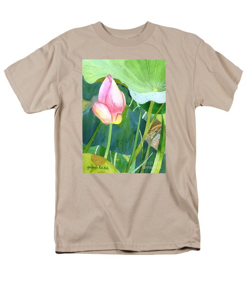 Men's T-Shirt  (Regular Fit) featuring the painting Pink Lotus by Yolanda Koh