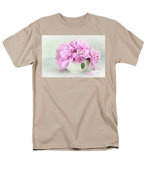 Pink Peonies Men's T-Shirt  (Regular Fit)