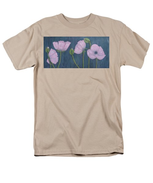 Men's T-Shirt  (Regular Fit) featuring the painting Pink Poppies by Kathleen McDermott