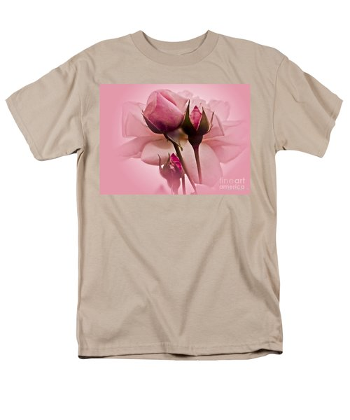 Roses In Pink Mist Men's T-Shirt  (Regular Fit) by Carol F Austin