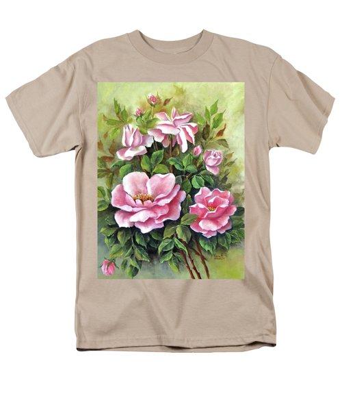 Pink Roses Men's T-Shirt  (Regular Fit) by Katia Aho