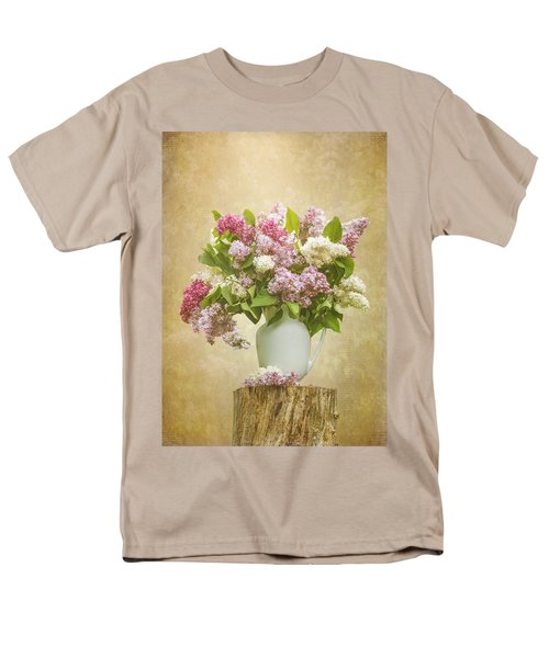 Pitcher Of Lilacs Men's T-Shirt  (Regular Fit) by Patti Deters