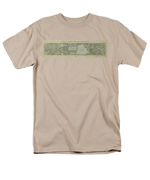 Plan Of Central Park City Of New York 1860 Men's T-Shirt  (Regular Fit) by Duncan Pearson