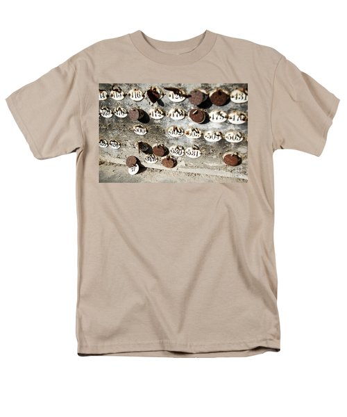 Plates With Numbers Men's T-Shirt  (Regular Fit) by Carlos Caetano