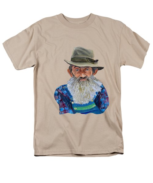 Popcorn Sutton Rocket Fuel- Transparent For T-shirt Men's T-Shirt  (Regular Fit) by Jan Dappen
