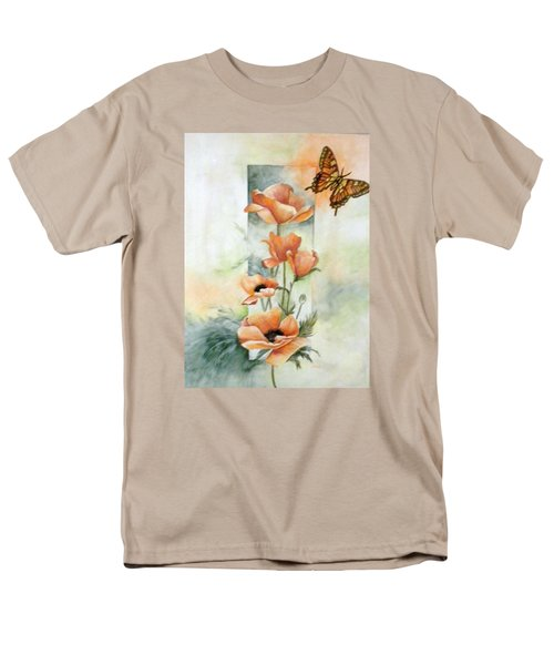 Poppies And Butterfly Men's T-Shirt  (Regular Fit) by Marti Idlet
