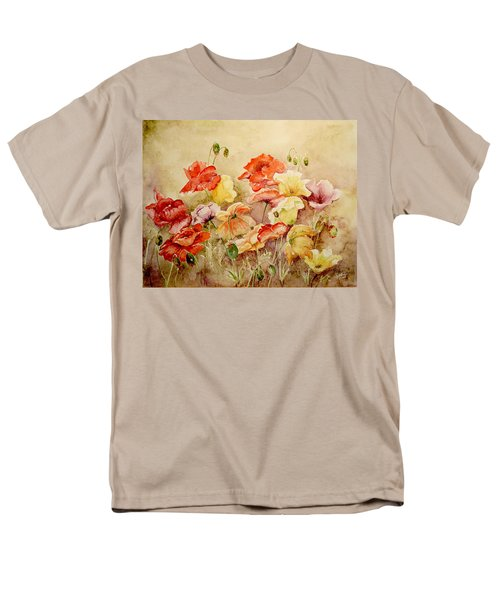 Men's T-Shirt  (Regular Fit) featuring the painting Poppies by Marilyn Zalatan
