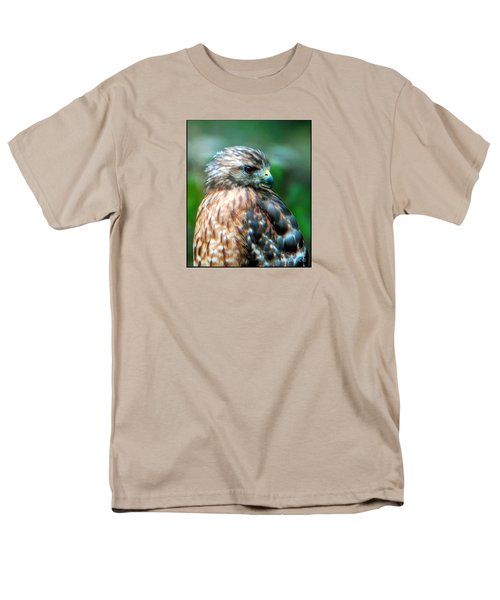Men's T-Shirt  (Regular Fit) featuring the photograph Portrait Of A Hawk by Sue Melvin