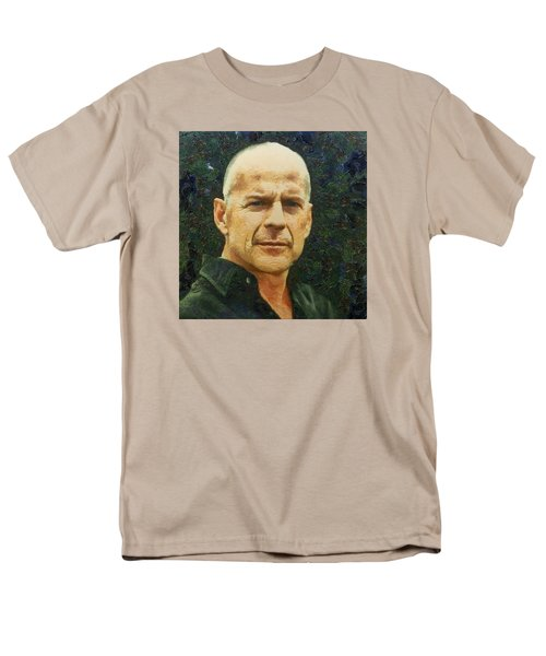Men's T-Shirt  (Regular Fit) featuring the digital art Portrait Of Bruce Willis by Charmaine Zoe