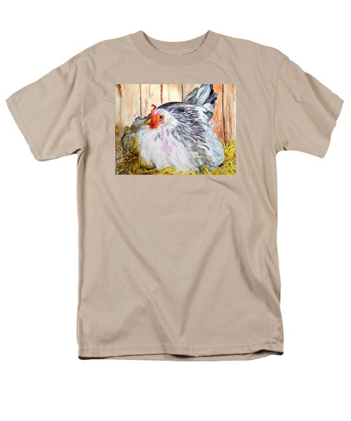 Pretty Little Chicken Men's T-Shirt  (Regular Fit) by Carol Grimes