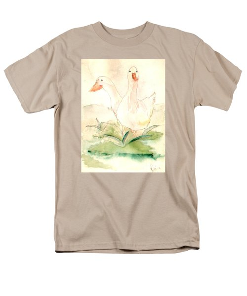Men's T-Shirt  (Regular Fit) featuring the painting Pretty Pekins by Denise Tomasura