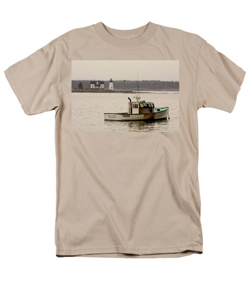 Prospect Harbor Lighthouse Men's T-Shirt  (Regular Fit) by Brent L Ander
