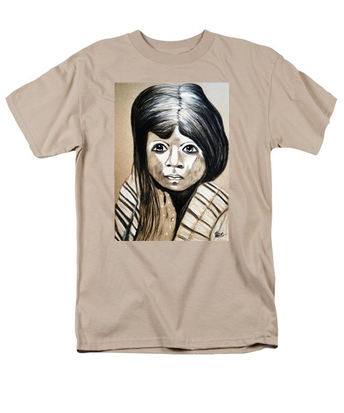 Men's T-Shirt  (Regular Fit) featuring the drawing Pueblo Girl by Ayasha Loya