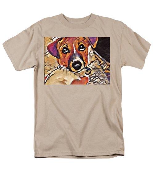 Puppy Eyes Men's T-Shirt  (Regular Fit) by Holly Martinson