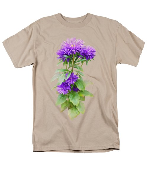 Purple Aster Men's T-Shirt  (Regular Fit) by Ivana