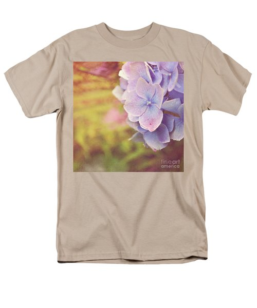 Men's T-Shirt  (Regular Fit) featuring the photograph Purple Hydrangea by Lyn Randle