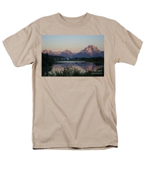 Purple Mountain Majesty  Men's T-Shirt  (Regular Fit) by Paula Guttilla