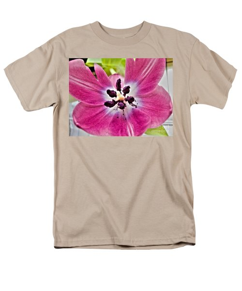 Men's T-Shirt  (Regular Fit) featuring the photograph Purple Tulip by Nina Ficur Feenan