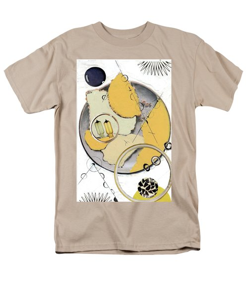 Men's T-Shirt  (Regular Fit) featuring the painting Quantom Physics by Michal Mitak Mahgerefteh
