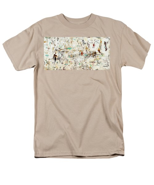Men's T-Shirt  (Regular Fit) featuring the painting Quest by Carmen Guedez