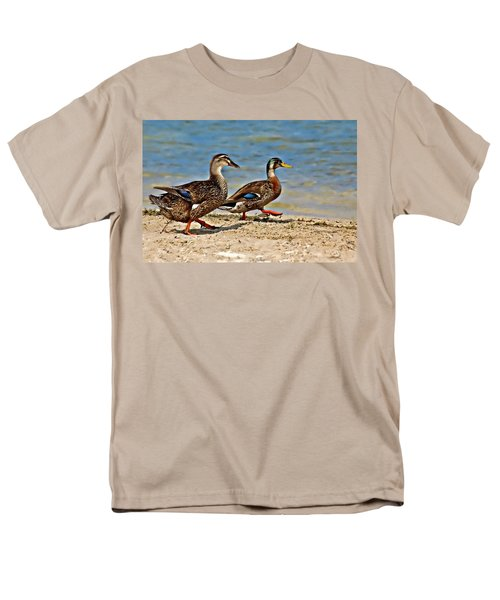 Race You To The Water Men's T-Shirt  (Regular Fit) by Carolyn Marshall