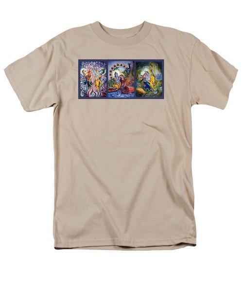 Radha Krishna Cosmic Leela Men's T-Shirt  (Regular Fit) by Harsh Malik