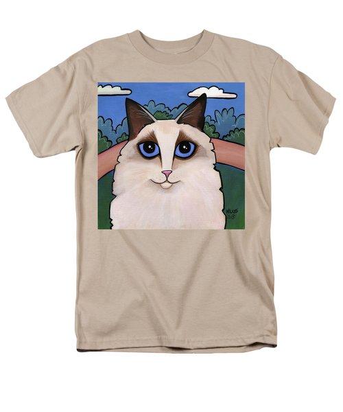 Ragdoll Cat Men's T-Shirt  (Regular Fit) by Leanne Wilkes