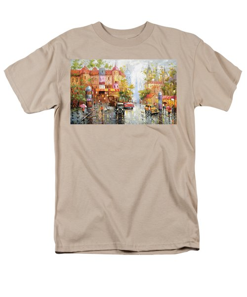 Men's T-Shirt  (Regular Fit) featuring the painting Rainy Day 3 by Dmitry Spiros