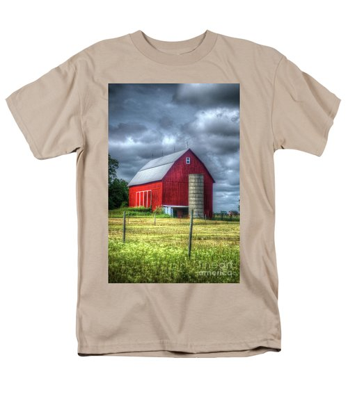 Men's T-Shirt  (Regular Fit) featuring the photograph Red Barn by Randy Pollard
