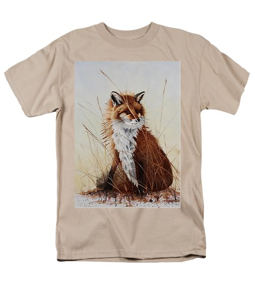Red Fox Waiting On Breakfast Men's T-Shirt  (Regular Fit) by Jimmy Smith