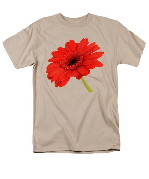 Red Gerbera Daisy 2 Men's T-Shirt  (Regular Fit) by Scott Carruthers