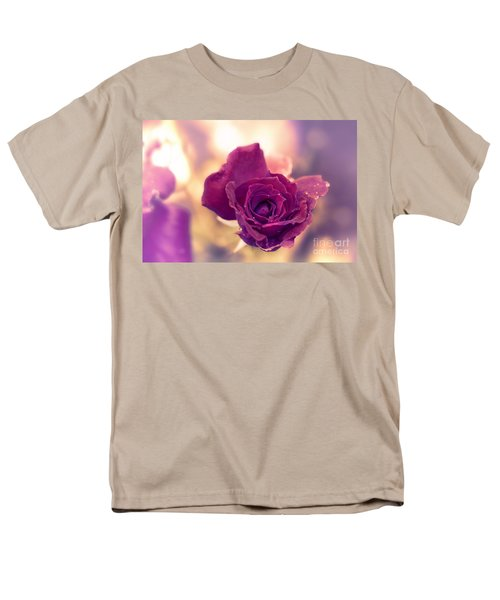 Red Rose Men's T-Shirt  (Regular Fit) by Charuhas Images