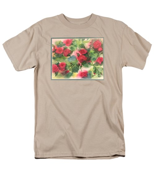 Men's T-Shirt  (Regular Fit) featuring the painting Red Roses by Lucia Grilletto