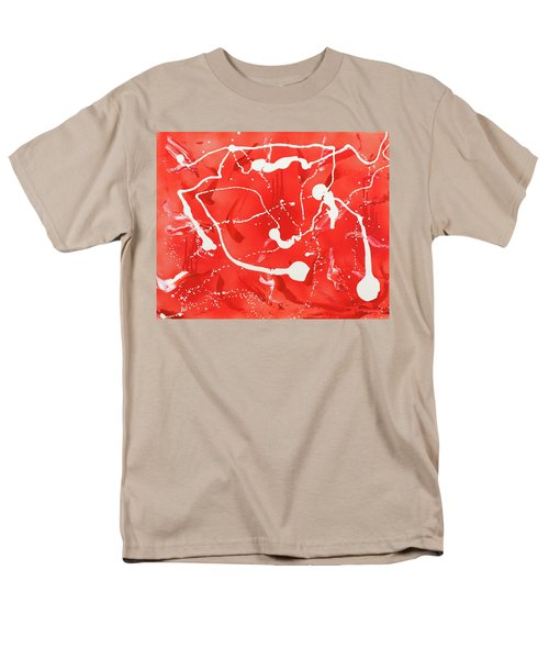 Men's T-Shirt  (Regular Fit) featuring the painting Red Spill by Thomas Blood
