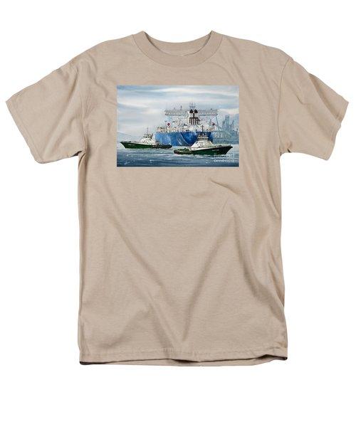 Refinery Tanker Escort Men's T-Shirt  (Regular Fit) by James Williamson