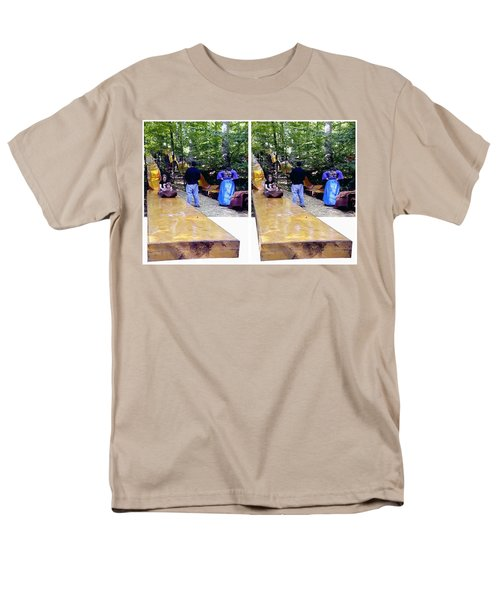 Men's T-Shirt  (Regular Fit) featuring the photograph Renaissance Slide - Gently Cross Your Eyes And Focus On The Middle Image by Brian Wallace