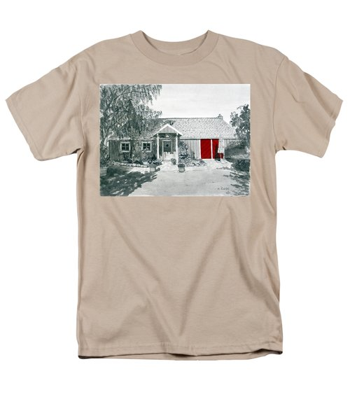 Retzlaff Winery With Red Door No. 2 Men's T-Shirt  (Regular Fit) by Mike Robles