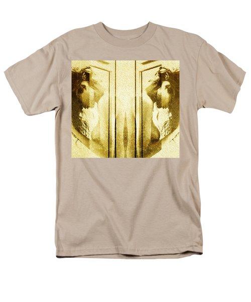 Men's T-Shirt  (Regular Fit) featuring the digital art Reversed Mirror by Andrea Barbieri